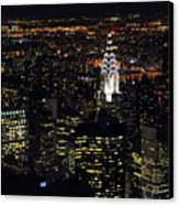 Chrysler Building At New York City Canvas Print by Philippe Brunel