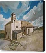 Church In Iqrit Canvas Print by Marwan  Khayat