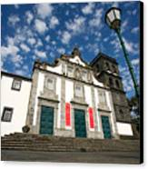 Church In Ribeira Grande Canvas Print