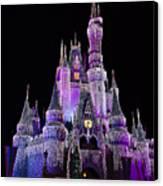 Cinderellas Castle At Night Canvas Print by Carmen Del Valle