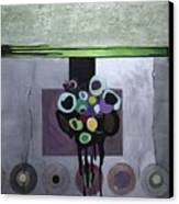 Circles Of Celadon Canvas Print