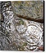Circles Of Water Canvas Print