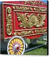 Circus Car In Red And Gold Canvas Print