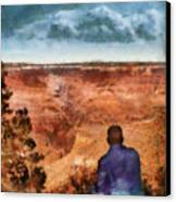 City - Arizona - Grand Canyon - The Vista Canvas Print by Mike Savad