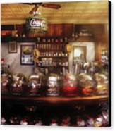 City - Ny 77 Water Street - The Candy Store Canvas Print by Mike Savad