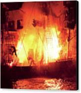 City - Vegas - Treasure Island - Explosion Abandon Ship Canvas Print