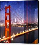 City Art Golden Gate Bridge Composing Canvas Print by Melanie Viola