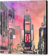 City-art Ny Times Square Canvas Print by Melanie Viola