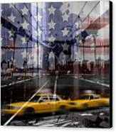 City-art Nyc Composing Canvas Print by Melanie Viola