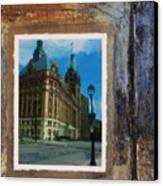 City Hall And Street Lamp Canvas Print by Anita Burgermeister