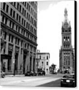 City Hall B-w Canvas Print
