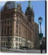 City Hall With Street Lamp Canvas Print