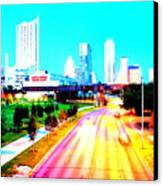 City Of Austin From The Walk Bridge Canvas Print