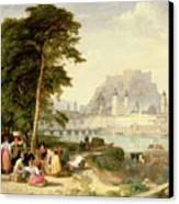 City Of Salzburg Canvas Print by Philip Hutchins Rogers