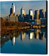 Cityscape Of Philadelphia Pa Canvas Print by Louis Dallara