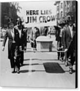 Civil Rights Demonstration In A Naacp Canvas Print by Everett