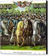 Civil War Generals And Statesman With Names Canvas Print by War Is Hell Store