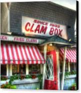 Clam Box Restaurant - Ipswich Ma Canvas Print by Joann Vitali