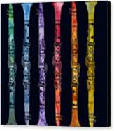 Clarinet Rainbow Canvas Print by Jenny Armitage