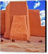 Classic View Of Ranchos Church As Oil Canvas Print by Charles Muhle