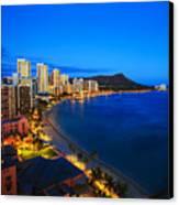 Classic Waikiki Nightime Canvas Print