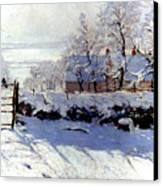 Claude Monet: The Magpie Canvas Print