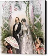 Clevelands Wedding, 1886 Canvas Print by Granger
