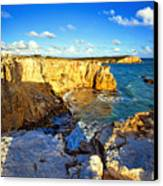 Cliffs Of Cabo Rojo At Sunset Canvas Print by George Oze