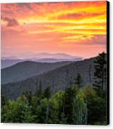 Clingmans Dome Great Smoky Mountains - Purple Mountains Majesty Canvas Print