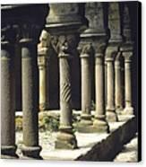 Cloister Of Lavaudieu. Haute Loire. Auvergne Canvas Print