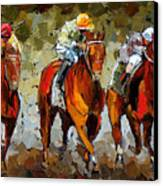 Close Race Canvas Print