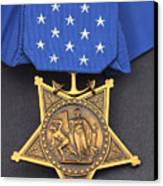 Close-up Of The Medal Of Honor Award Canvas Print by Stocktrek Images