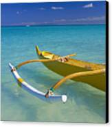 Close-up Yellow Canoe Canvas Print by Dana Edmunds - Printscapes