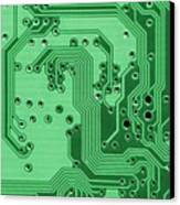 Closeup Of A Motherboard Canvas Print by Yali Shi