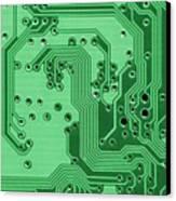 Closeup Of A Motherboard Canvas Print