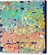 Clouds. Colorful Painter Palette. Exhausted Paint And Abstract Painting. Canvas Print