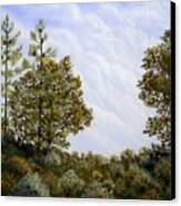 Clouds In Foothills Canvas Print
