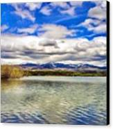Clouds Over Distant Mountains Canvas Print