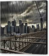 Clouds Over Manhattan Canvas Print by Andreas Freund