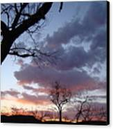 Cloudy Sunset One Canvas Print