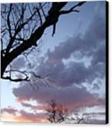 Cloudy Sunset Two Canvas Print
