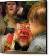 Clown - Face Painting Canvas Print by Mike Savad