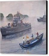 Coast Guard Cutters Pt Hudson And Pt Grace In Vietnam Canvas Print