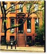 Cobble Hill Brownstones - Brooklyn - New York City Canvas Print by Vivienne Gucwa