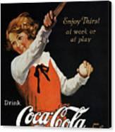 Coca-cola Ad, 1923 Canvas Print by Granger