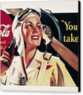 Coca-cola Ad, 1941 Canvas Print by Granger