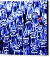Coca-cola Coke Bottles - Return For Refund - Square - Painterly - Blue Canvas Print