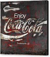 Coca Cola Grunge Sign Canvas Print by John Stephens