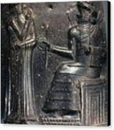 Code Of Hammurabi (detail) Canvas Print by Granger