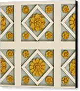 Coffered Ceiling Detail At Getty Villa Canvas Print by Teresa Mucha